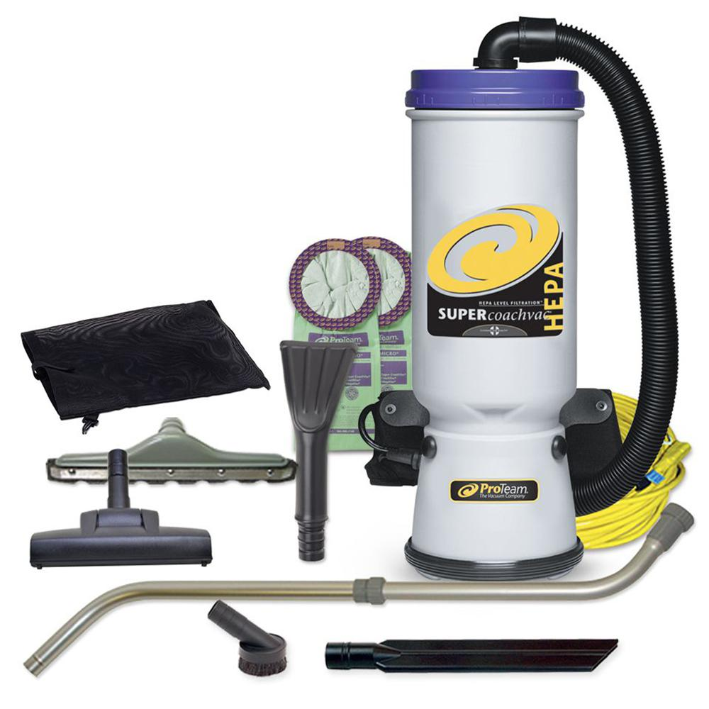 GV 8 Qt Light Powerful HEPA Backpack Vacuum with Power Head Nozzle