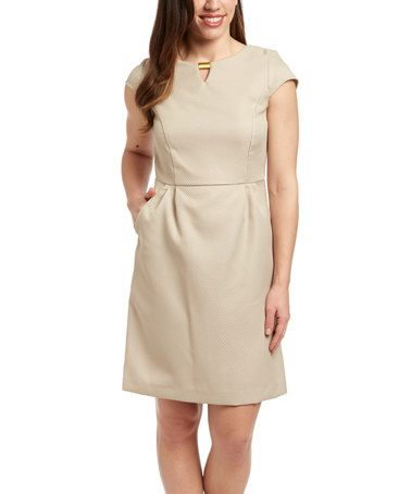 Look what I found on #zulily! Wet Sand Notch Neck Dress by Shelby & Palmer #zulilyfinds