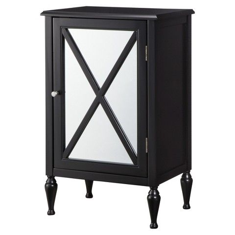 Hollywood Mirrored One Door Accent Cabinet Accent Doors Hollywood Mirror Accent Cabinet