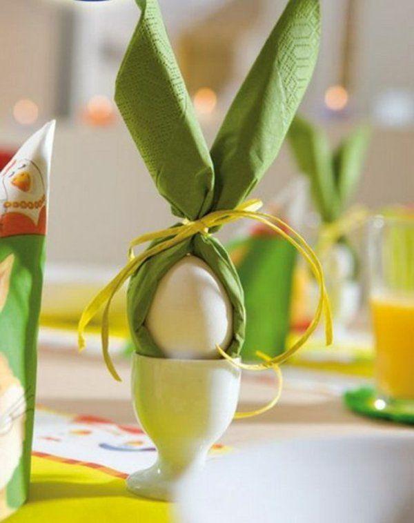 Basteln für Ostern : 100 + originelle Vorschläge! #foldingnapkins