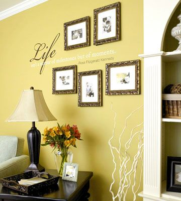 A Cozy and Sophisticated Living Room Makeover   Wall transfers ...