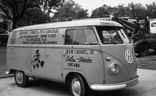 Florida Memory Eubanks Termite Pest Control Vw Van In Tallahassee Vintage Vw Van Vw Van Volkswagen Van