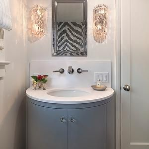 Half Circle Vanities Are Great Space Savers Grey Bathroom Vanity Beautiful Bathroom Vanity Glam Bathroom