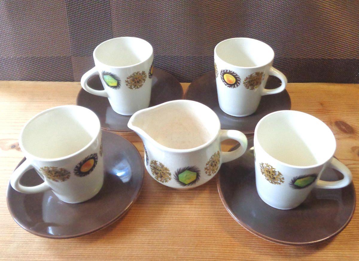 1960s Palissy Toledo Tea coffee set England 4 Coffee