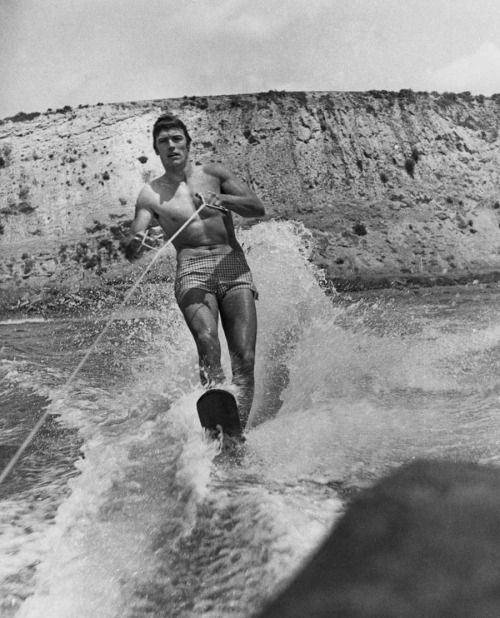 Clint Eastwood water skiing.