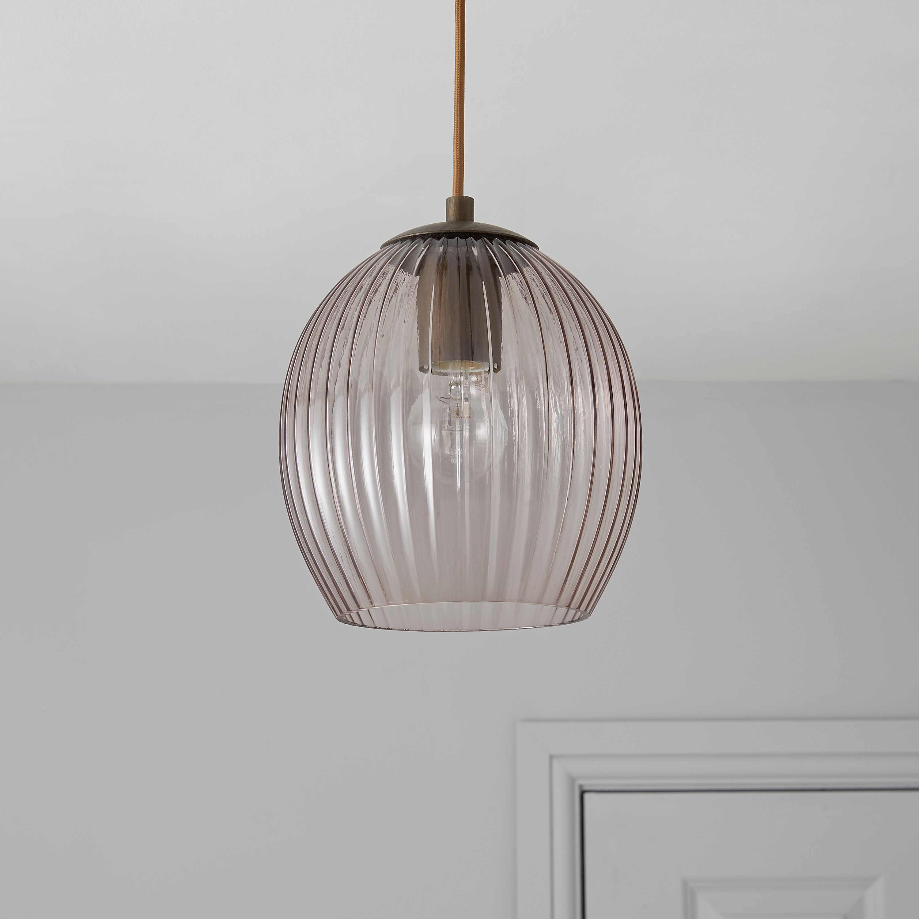 Charissa grey tinted pendant ceiling light departments diy at charissa grey tinted pendant ceiling light departments diy at bq mozeypictures Image collections
