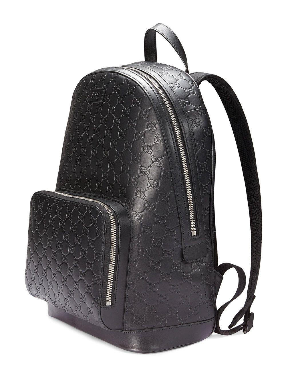 d927f19d3ebe Gucci Sac à dos en cuir Gucci Signature Gucci Leather Bag