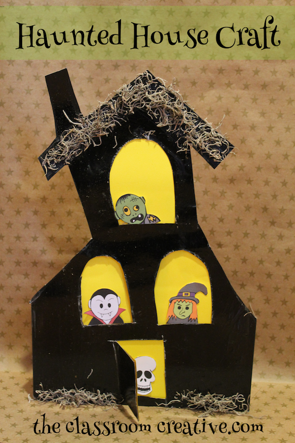 a haunted house craft and halloween word study great idea