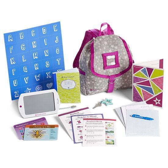 School Backpack Set for Dolls #americandolls