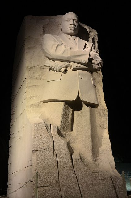 Martin Luther King Memorial At Night Washington D C Usa