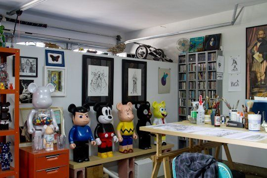 Jeffs Garage to Art Studio Conversion Workspace Tour Art