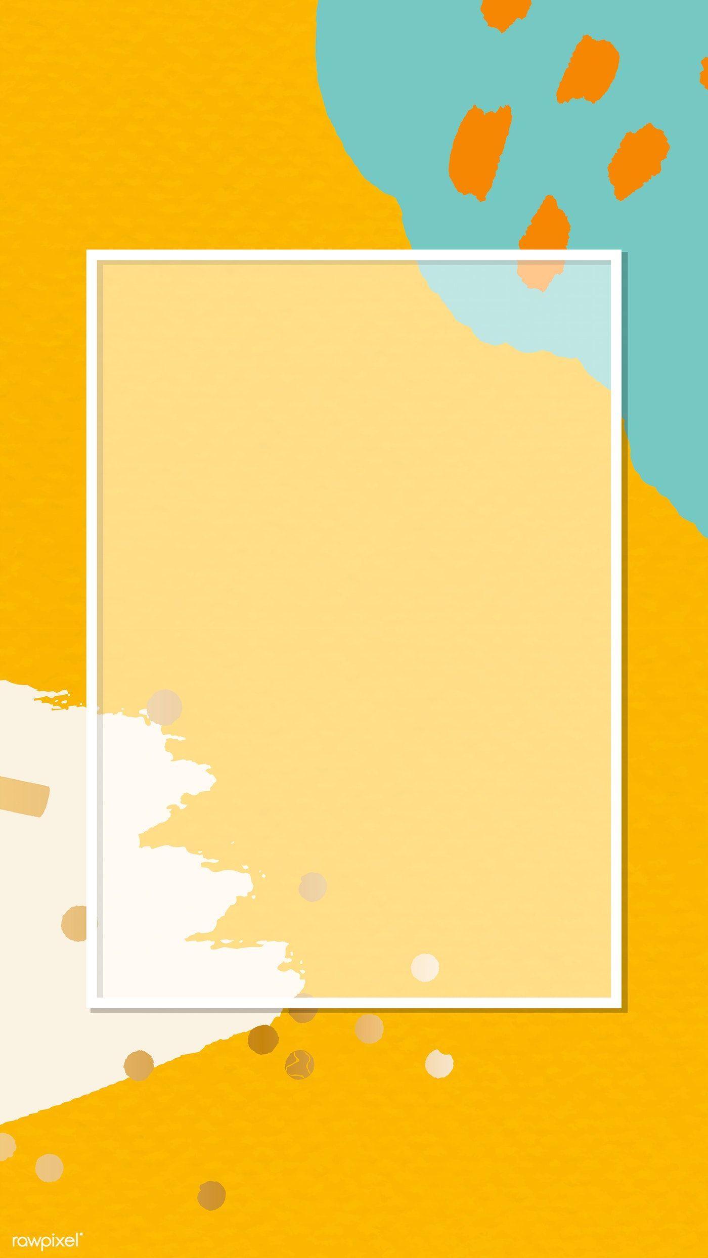 Download Premium Vector Of Transparent Frame On Memphis Pattern Mobile Cute Patterns Wallpaper Funny Phone Wallpaper Abstract Iphone Wallpaper