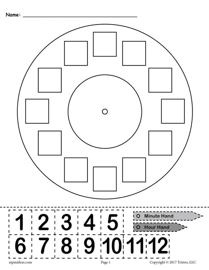 """Printable """"Build a Clock"""" Telling Time Activity Telling"""