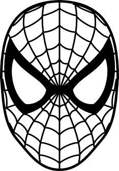 Spiderman face google search silhouette crafts for Spiderman template for cake