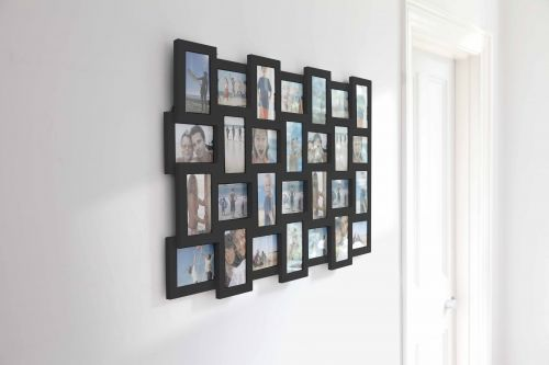 4X6 Multiple Picture Frames | ... wall mounted multi frame in black ...
