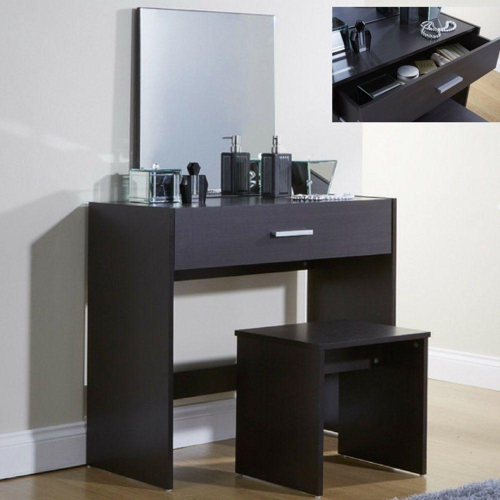 Girls Dressing Table Set Bedroom Dresser Mirror Stool Make Up