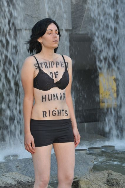 """Really? You're so """"stripped of your rights"""" huh? Go live in communist China or in the middle of a war torn Middle Eastern country. See how many rights you have there. I guarantee you you'll be back before you can wash that sharpie off. That is... If you don't get stoned for being almost naked in public first."""
