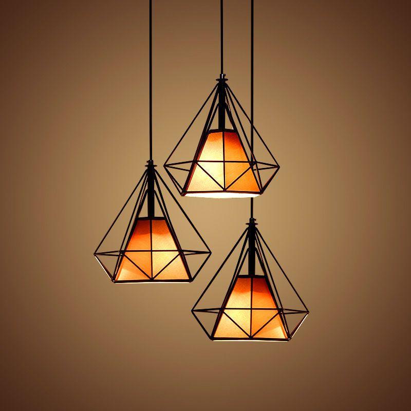 Edison Industrial Vintage Chandelier Pendant Light Ceiling Lamp Metal Cage Lampu Gantung Modern Lampu