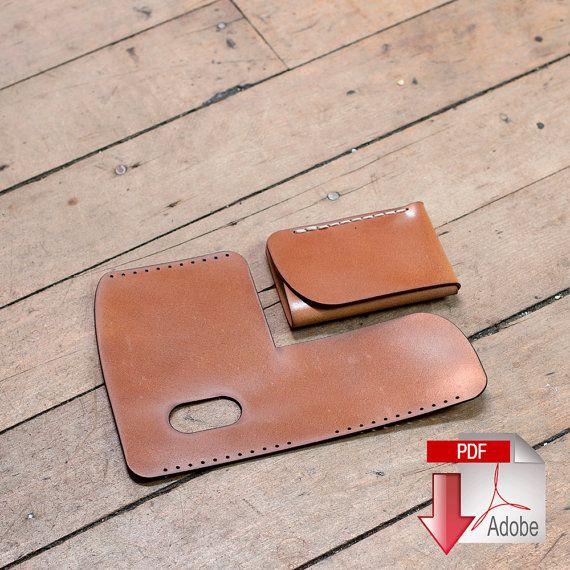 b1aced326e1d Folded Minimalist Leather Wallet Digital PDF Template - Leather ...