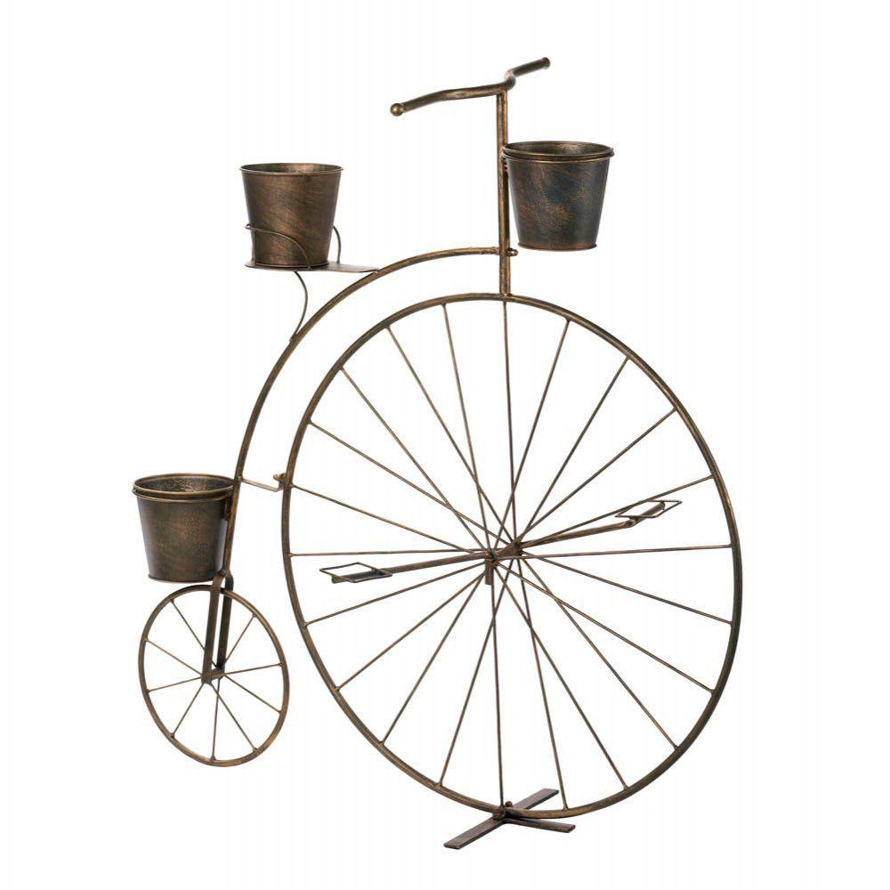 Garden decor bicycle  Metal Bicycle Patio Porch Garden Planter Free US Shipping