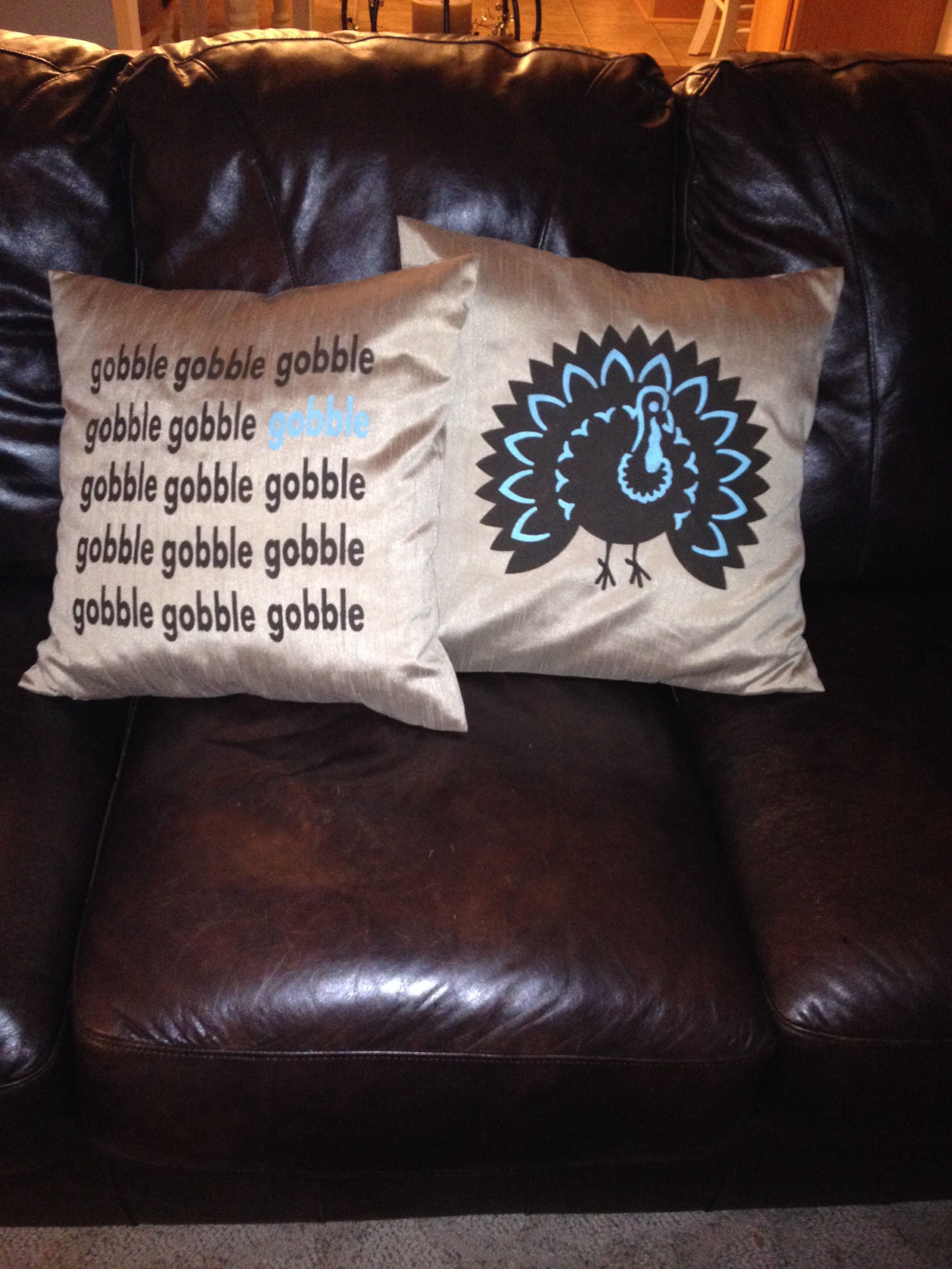 Thanksgiving pillows fabric paint onto pillow cover hobby lobby