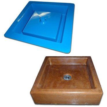 Concrete Countertop Rubber Sink Mold Sdp 47 Vessel Box Muebles