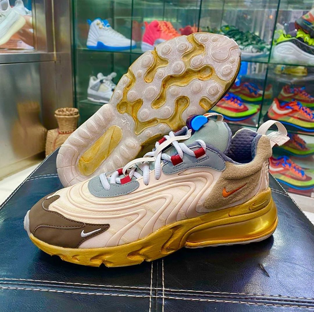 Look at the Travis Scott x Nike Air Max 270 React. Expecting