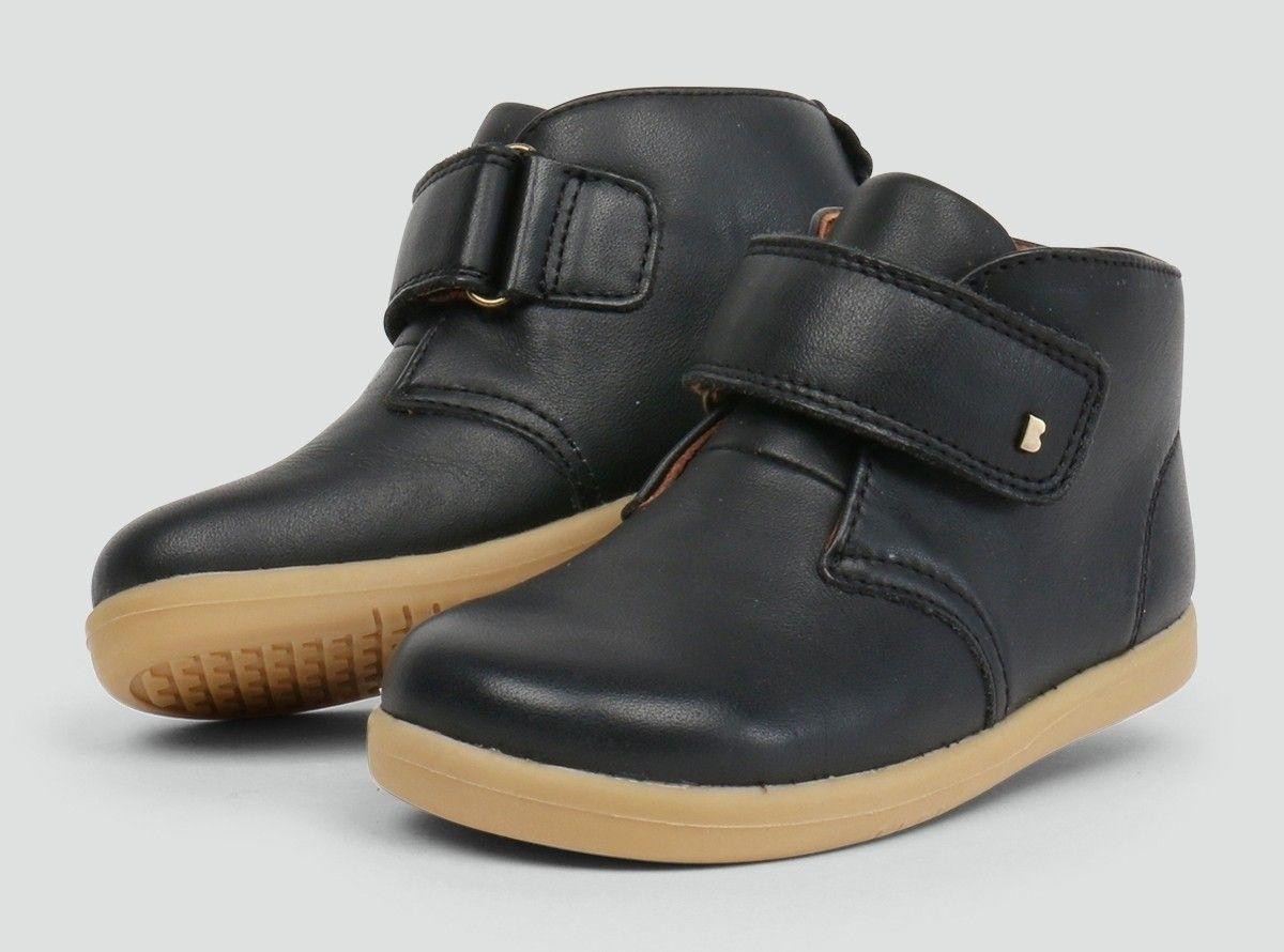 6763c6c12857 Desert Black Bobux Boots - Kids High Top Shoes