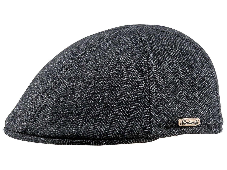 9aa7e6a5d268f Warm Wool Blend Petersham Duckbill 6 Panel Flat Cap - Dark Grey -  CZ11PAJRAY5 - Hats   Caps
