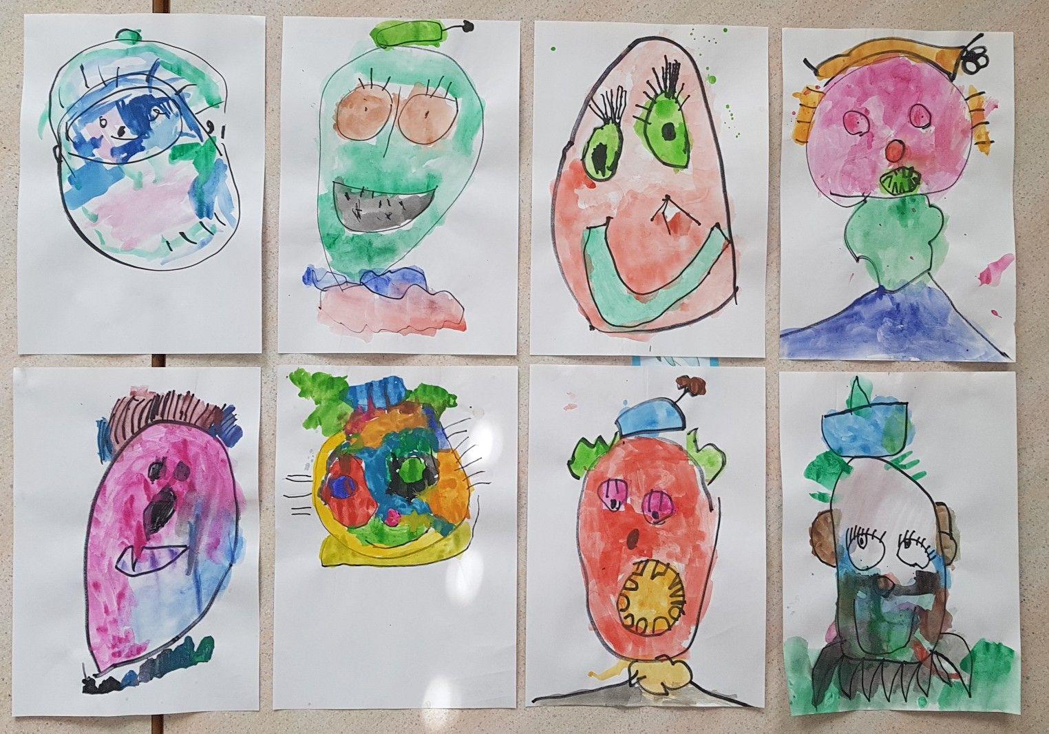 Clowns Watercolors Februar In