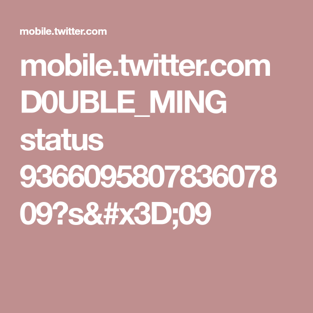 mobile.twitter.com D0UBLE_MING status 936609580783607809?s=09