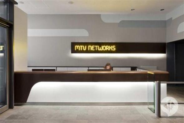 Reception Desk - MTV Networks   Furniture - Reception   Pinterest ...