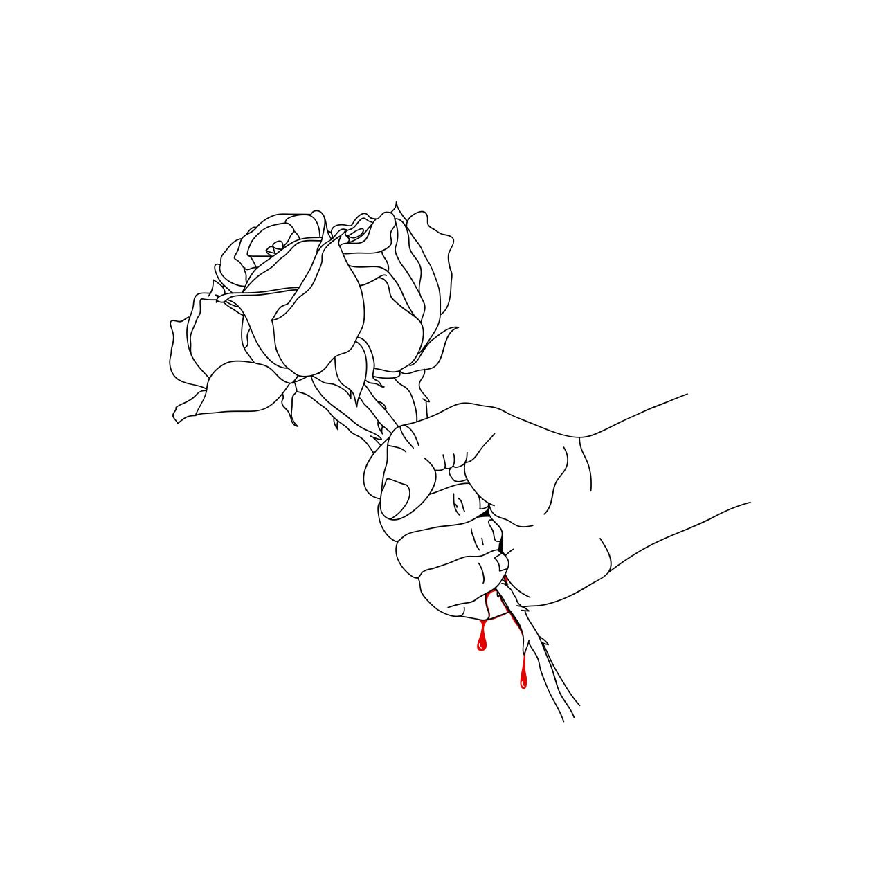 Line Art Aesthetic : Quiero que seas mi rosa y espina aunque me hagas daño