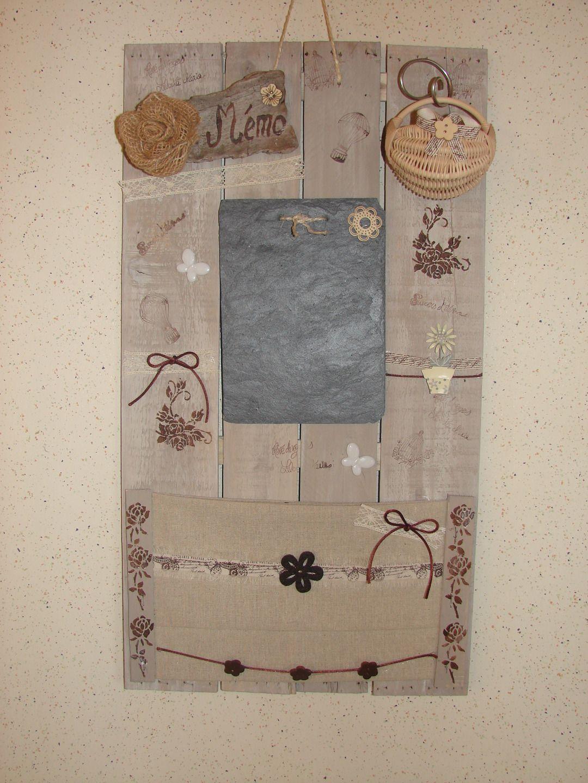 tableau mémo de cuisine en matériaux recyclés bois et ...