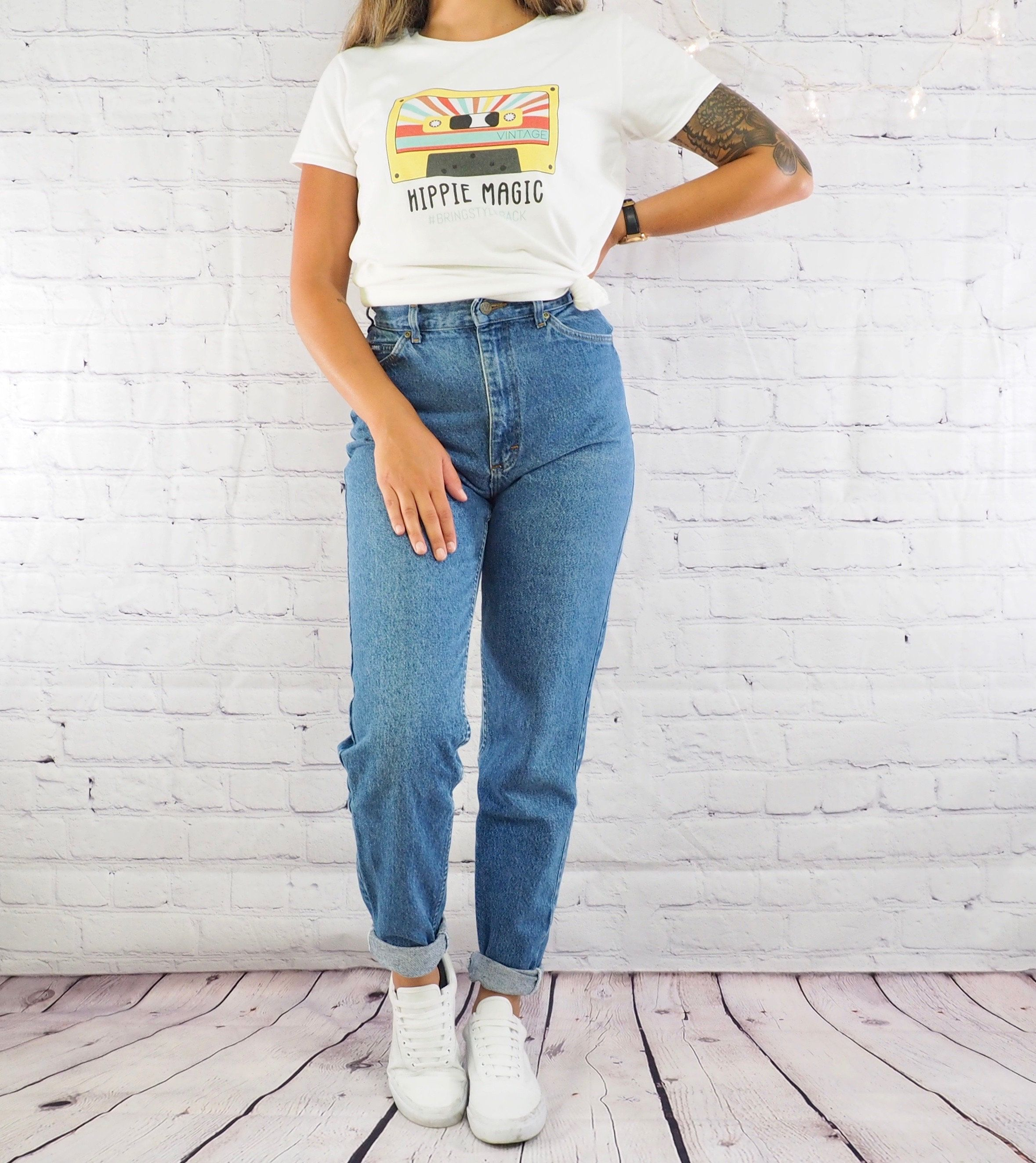 Vintage 90s Lee Jeans Women S High Waisted Mom Jeans Straight Jeans Outfit Mom Jeans High Waisted Mom Jeans