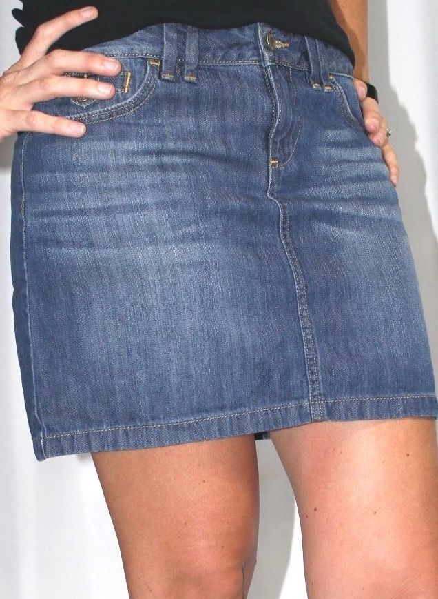 44734ab478 Ann Taylor Loft Denim Mini Jean Skirt Womens 2 #AnnTaylorLOFT #Mini ...