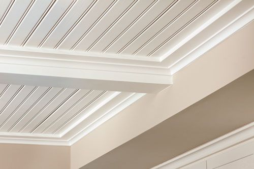 Bead Ceiling   Using Vinyl Beadboard Soffit for Porch Ceilings