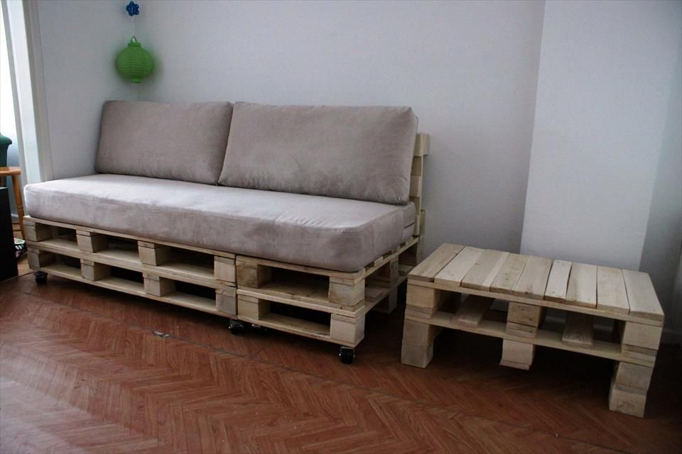 Diy Pallet Sofa And Coffee Table Couch
