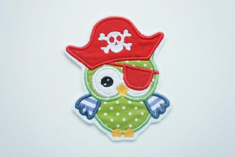 Stickapplikationen - ♥ Pirateneule #7 Applikation - ein Designerstück von zuckerputzig bei DaWanda