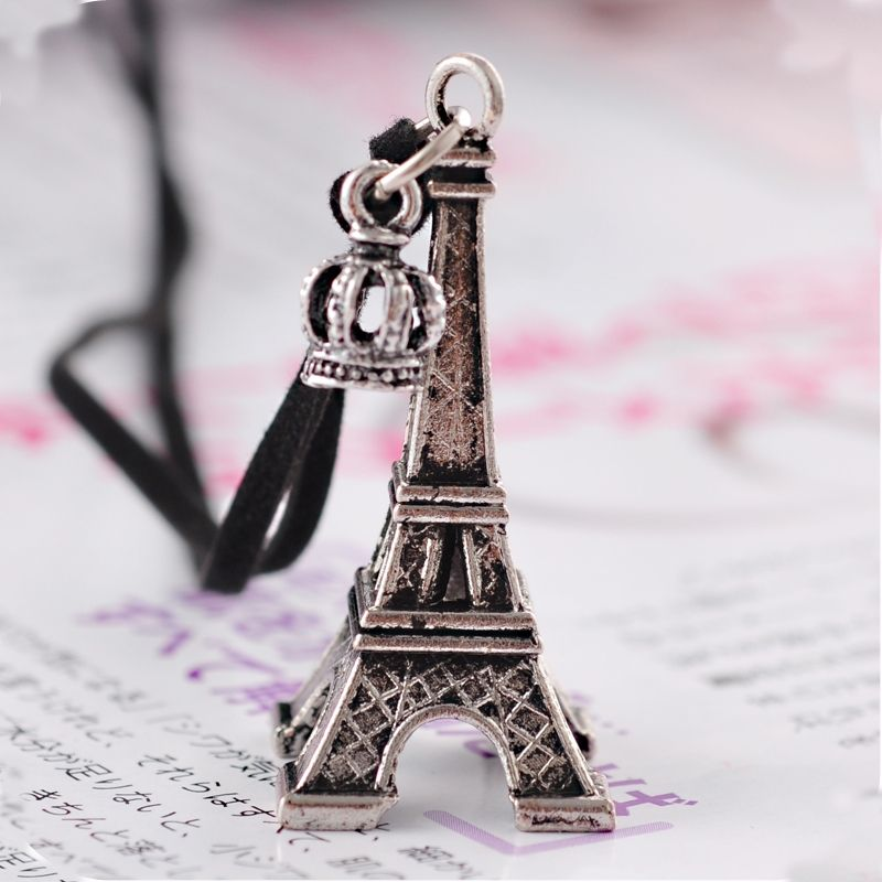 Eiffel tower necklace eiffel tower necklaces pinterest vintage eiffel tower necklace mozeypictures Image collections