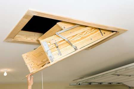 Done Attaching The Frame Time To Attach The Ladder Itself Attic Ladder Attic Stairs Attic Doors
