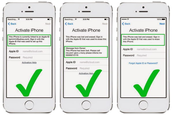 iphone activation lock apple id and password