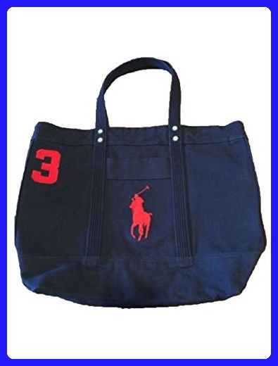 6a85dc9abb7e Polo Ralph Lauren Cotton Canvas Big Pony Zip Tote Bag (Aviator Navy) - Top  handle bags ( Amazon Partner-Link)