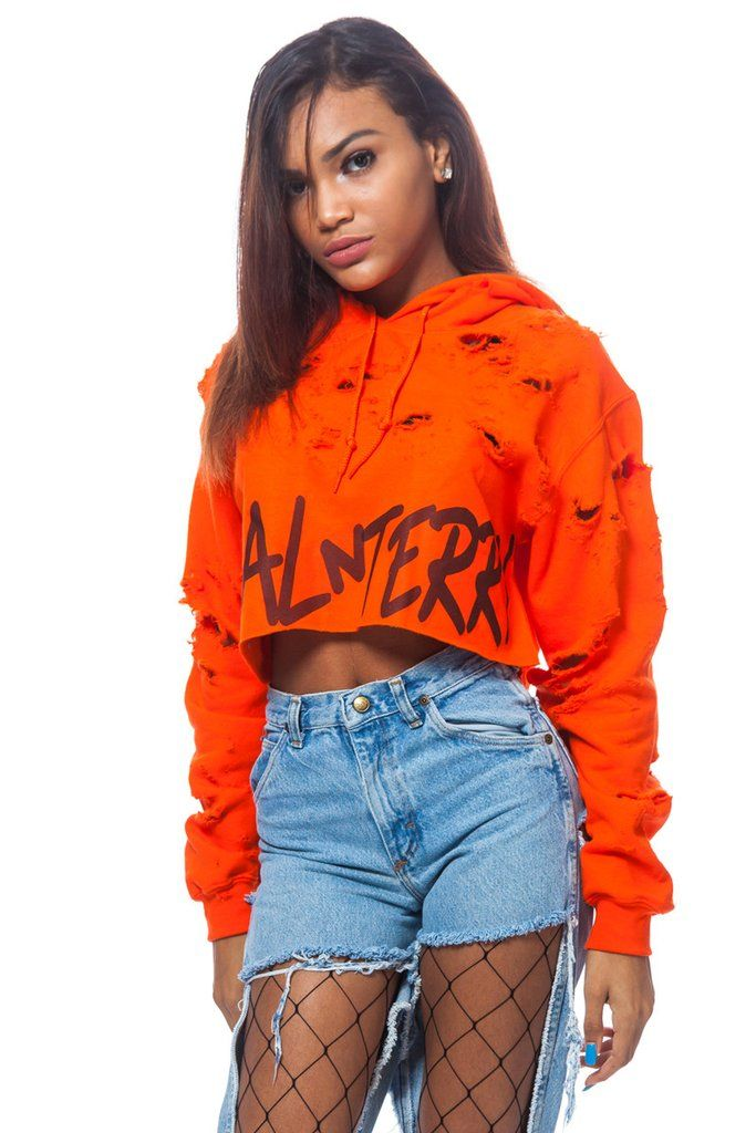 2757cae68f17  60Wicked distressed COAL N TERRY logo cropped Hoodie. Pair these ...