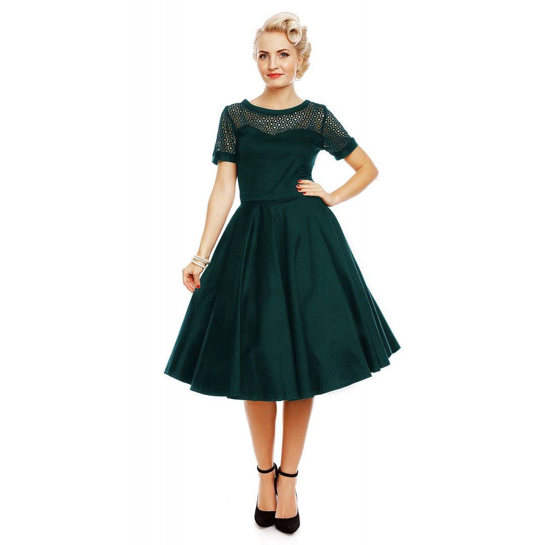 Dolly & Dotty 50er Jahre Retro Rockabilly Petticoat Kleid ...