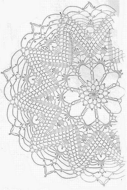Pin von Joan Nicholes auf Crochet Home: Doilies | Pinterest ...