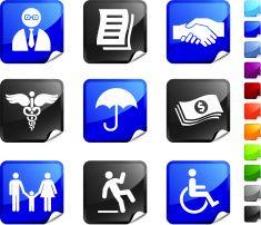 insurance agent royalty free icons vector art illustration