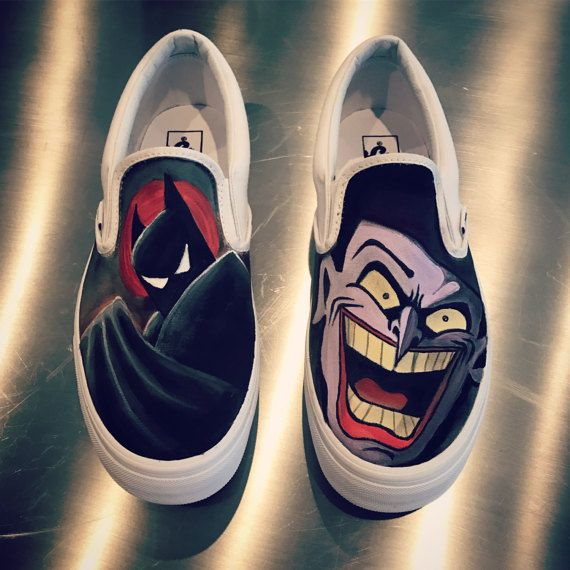 3f9d26852604 Custom painted Batman and Joker vans shoes