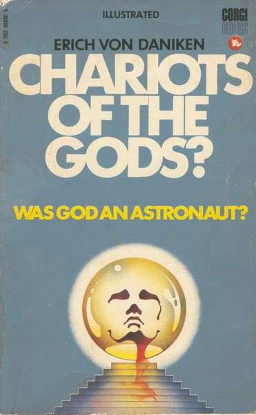 Chariots of the Gods? Was God an Astronaut? by Erich Von Daniken Imagery: Oh look, a PYRAMID! This book is the Alien Gospel deception. It preaches the Ancient Aliens theory that humanity was seeded here through panspermia. It is a gospel being taught in many books, movies, and television shows to deceive people into believing the lie. Daniken is a regular on the History Channel's Ancient Aliens show which is a grossly inaccurate portrayal of history and artifacts. See AA Debunked on YouTube