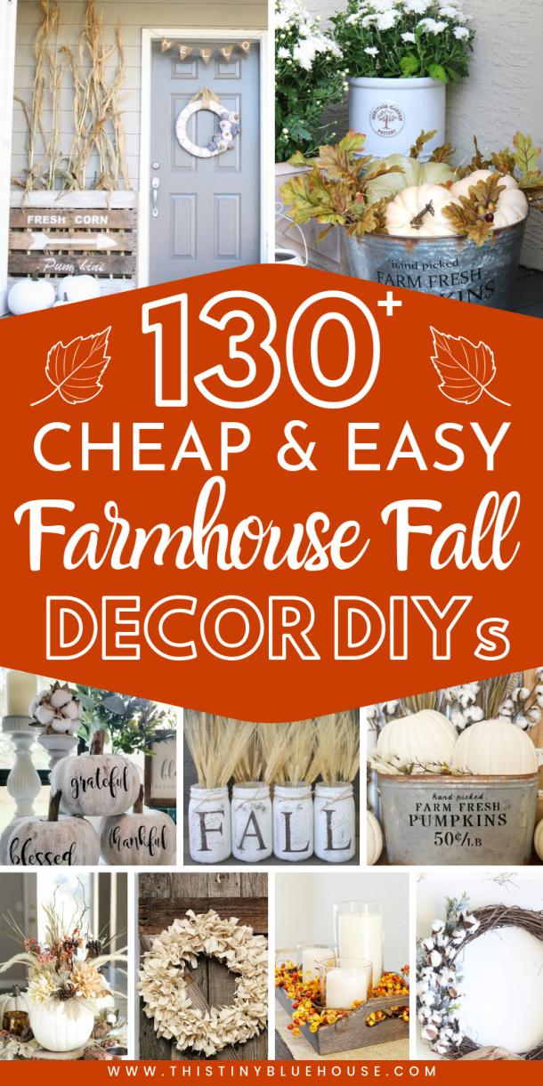 130+ Best DIY Fall Decor Ideas - This Tiny Blue House #falldecorideasfortheporch